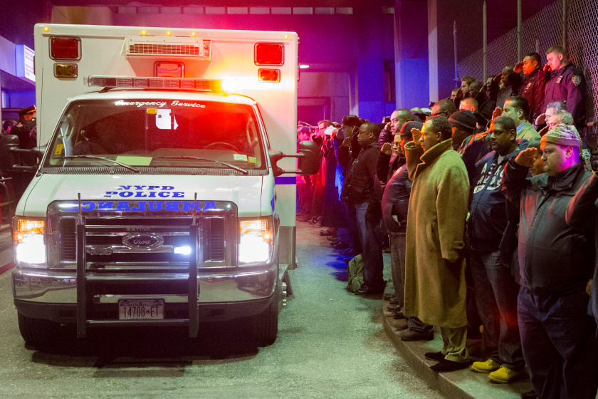 CORRECTION NYPD Officers Shot